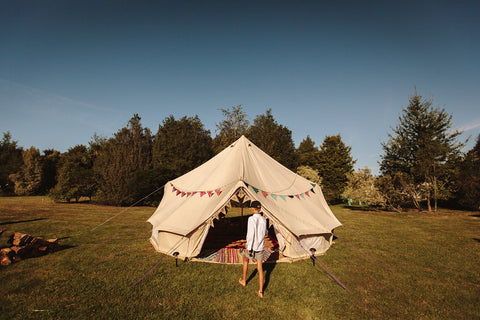 6m bell tent for sale, great for yoga, lounging, sleeping 6+