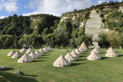 Glamping bell tents