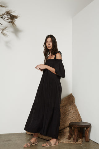 Nairobi Gown in Black and Rust