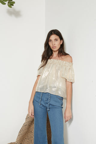 Ibiza Blouse in gold