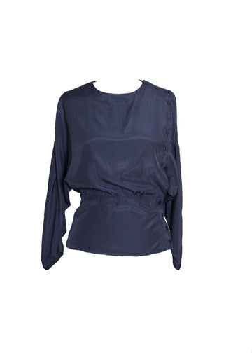 Heleina Blouse in navy