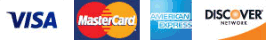 We accept Visa, Mastercard, AmEx - American Express, Discover