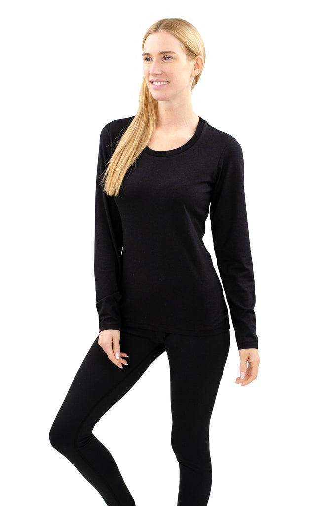 Cloutier - womens - long sleeve - shirt - black