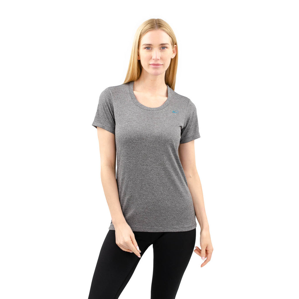 banff athletica - womens - t-shirt - grey