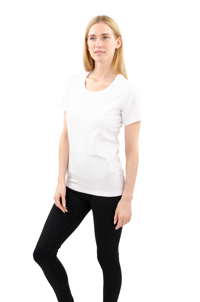 Cloutier - womens - t-shirt - white