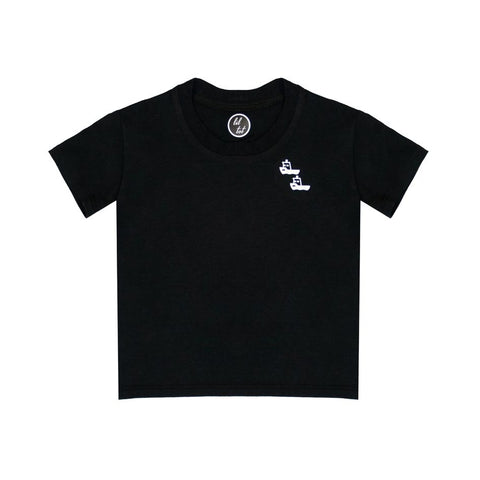 lil tot - t-shirt - black - tugboats