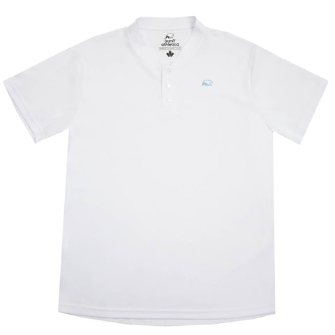 Banff Athletica - mens - mock collar - polo - white