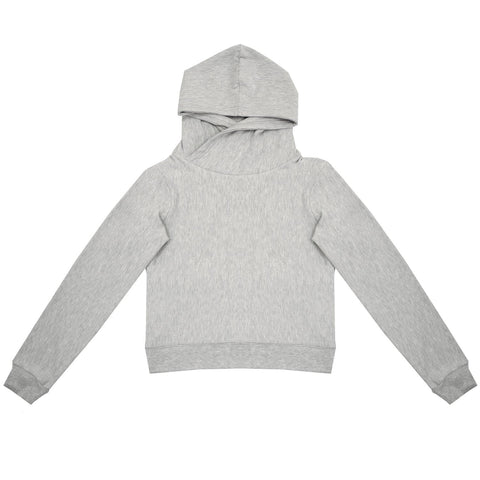 Cloutier - womens - crop - hoodie - grey