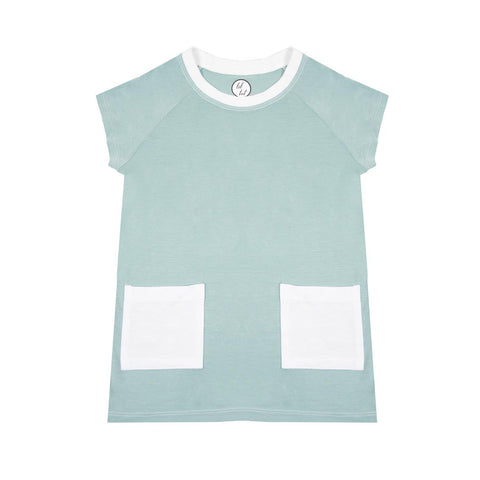 lil tot - t-shirt dress - green mist