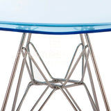 Ghost Molded ACRYLIC Eiffel Base DSR Mid Century Modern Side Chair Eames Style - Blue , Dining chairs - FSWorldwide, FSWorldwide  - 5
