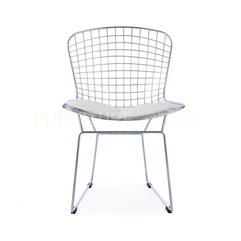 Harry Bertoia Style Wire Side Chair - White Pad , Chair - FSWorldwide, FSWorldwide  - 1