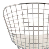 Harry Bertoia Style Wire Side Chair - White Pad , Chair - FSWorldwide, FSWorldwide  - 6