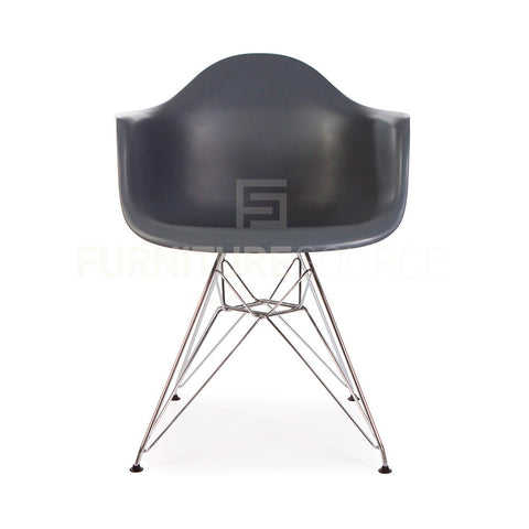 DAR Plastic Lounge Dining Chair Eames Style - Grey , Chair - FSWorldwide, FSWorldwide  - 1