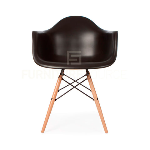 DAW Plastic Lounge Dining Wood Leg Chair Eames Style - Black , Chair - FSWorldwide, FSWorldwide  - 1
