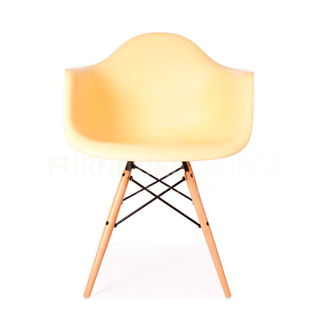 DAW Plastic Lounge Dining Wood Leg Chair Eames Style - Cream , Chair - FSWorldwide, FSWorldwide  - 1
