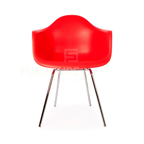 DAX Plastic Lounge Dining Four Leg Chair Eames Style - Red , Chair - FSWorldwide, FSWorldwide  - 1