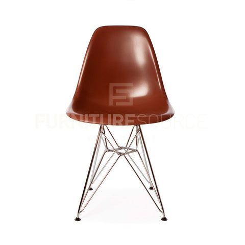 DSR Plastic Lounge Dining Eiffel Leg Chair Eames Style - Brown , Chair - FSWorldwide, FSWorldwide  - 1