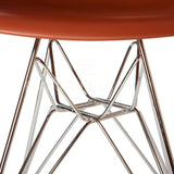 DSR Plastic Lounge Dining Eiffel Leg Chair Eames Style - Brown , Chair - FSWorldwide, FSWorldwide  - 5