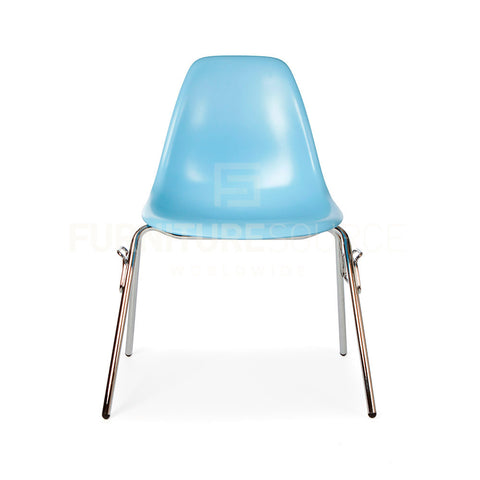 DSS Plastic Stacking Lounge Dining Chair Eames Style - Blue , Chair - FSWorldwide, FSWorldwide  - 1