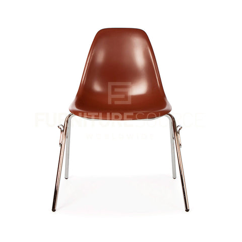 DSS Plastic Stacking Lounge Dining Chair Eames Style - Brown , Chair - FSWorldwide, FSWorldwide  - 1