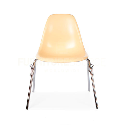 DSS Plastic Stacking Lounge Dining Chair Eames Style - Cream , Chair - FSWorldwide, FSWorldwide  - 1