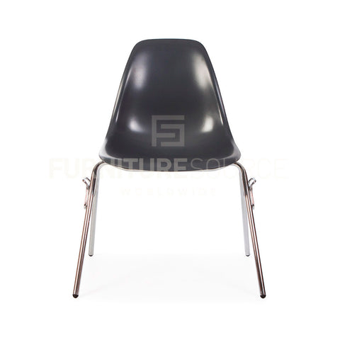 DSS Plastic Stacking Lounge Dining Chair Eames Style - Grey , Chair - FSWorldwide, FSWorldwide  - 1
