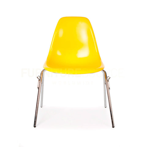 DSS Plastic Stacking Lounge Dining Chair Eames Style - Yellow , Chair - FSWorldwide, FSWorldwide  - 1