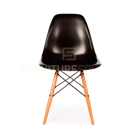 A DSW Plastic Lounge Dining Wood Leg Chair Eames Style - Black , Chair - FSWorldwide, FSWorldwide  - 1