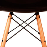 A DSW Plastic Lounge Dining Wood Leg Chair Eames Style - Black , Chair - FSWorldwide, FSWorldwide  - 5