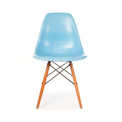 A DSW Plastic Lounge Dining Wood Leg Chair Eames Style - Blue , Chair - FSWorldwide, FSWorldwide  - 1