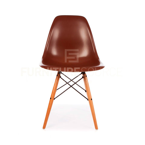 A DSW Plastic Lounge Dining Wood Leg Chair Eames Style - Brown , Chair - FSWorldwide, FSWorldwide  - 1