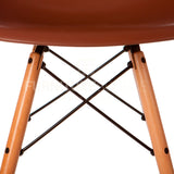 A DSW Plastic Lounge Dining Wood Leg Chair Eames Style - Brown , Chair - FSWorldwide, FSWorldwide  - 5