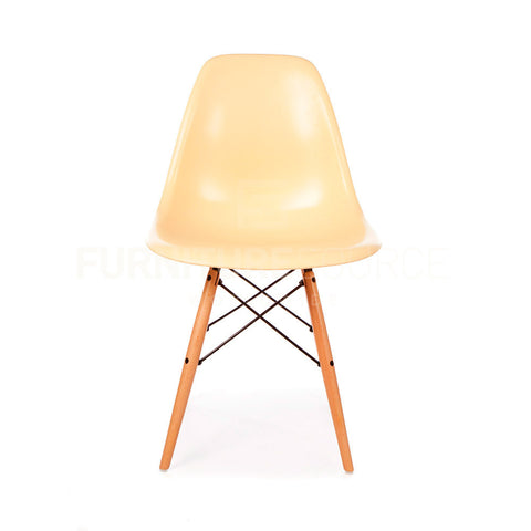 A DSW Plastic Lounge Dining Wood Leg Chair Eames Style - Cream , Chair - FSWorldwide, FSWorldwide  - 1