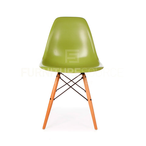 A DSW Plastic Lounge Dining Wood Leg Chair Eames Style - Green , Chair - FSWorldwide, FSWorldwide  - 1