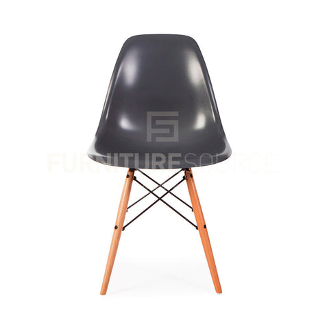 A DSW Plastic Lounge Dining Wood Leg Chair Eames Style - Grey , Chair - FSWorldwide, FSWorldwide  - 1
