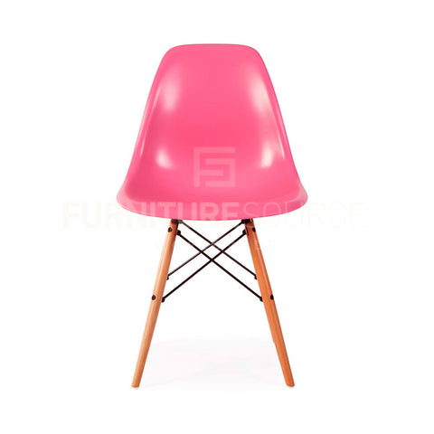 A DSW Plastic Lounge Dining Wood Leg Chair Eames Style - Pink , Chair - FSWorldwide, FSWorldwide  - 1