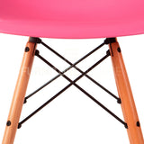 A DSW Plastic Lounge Dining Wood Leg Chair Eames Style - Pink , Chair - FSWorldwide, FSWorldwide  - 5