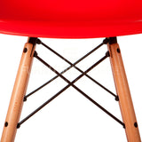 A DSW Plastic Lounge Dining Wood Leg Chair Eames Style - Red , Chair - FSWorldwide, FSWorldwide  - 5