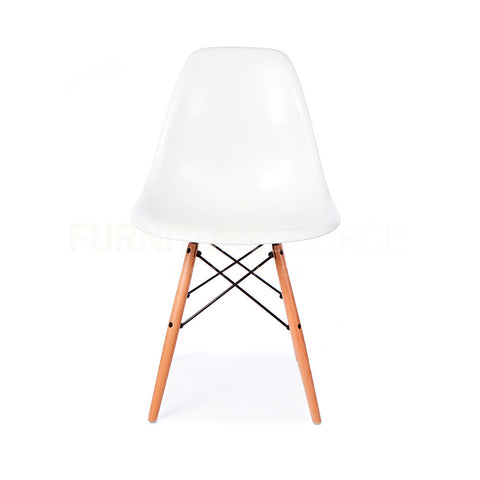 A DSW Plastic Lounge Dining Wood Leg Chair Eames Style - White , Chair - FSWorldwide, FSWorldwide  - 1
