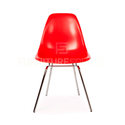 DSX Plastic Lounge Dining Four Leg Chair Eames Style - Red , Chair - FSWorldwide, FSWorldwide  - 1