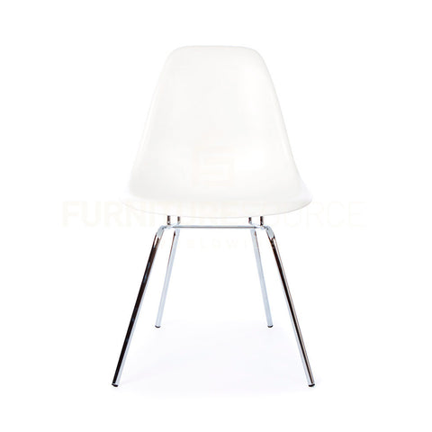 DSX Plastic Lounge Dining Four Leg Chair Eames Style - White , Chair - FSWorldwide, FSWorldwide  - 1