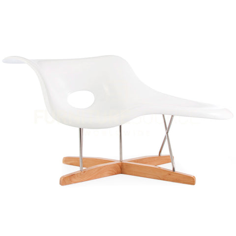 La Chaise Sculptural Organic Lounge Chair Eames Style - White , Chaise Longue - FSWorldwide, FSWorldwide  - 1