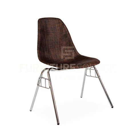 Mid Century Modern ABS WEAVE Coated EAMES Style DSS Stacking Dining Side Chair - Cocoa , Chair - FSWorldwide, FSWorldwide  - 1