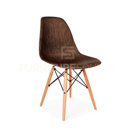 Mid Century Modern Special Edition Wood Leg WEAVE DSW Dining Chair Eames Style - Cocoa , Chair - FSWorldwide, FSWorldwide  - 1