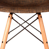 Mid Century Modern Special Edition Wood Leg WEAVE DSW Dining Chair Eames Style - Cocoa , Chair - FSWorldwide, FSWorldwide  - 2