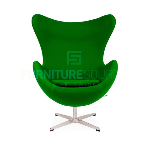 Arne Jacobsen Style Egg Chair - Cashmere Green Fabric , Chair - FSWorldwide, FSWorldwide  - 1
