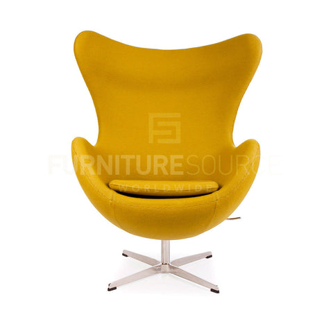 Arne Jacobsen Style Egg Chair - Cashmere Olive Fabric , Chair - FSWorldwide, FSWorldwide  - 1