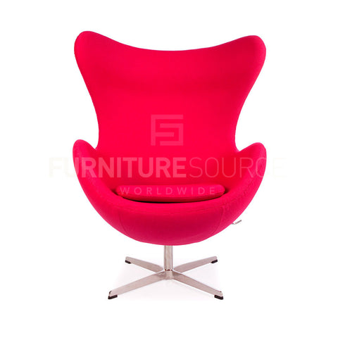 Arne Jacobsen Style Egg Chair - Cashmere Pink Fabric , Chair - FSWorldwide, FSWorldwide  - 1