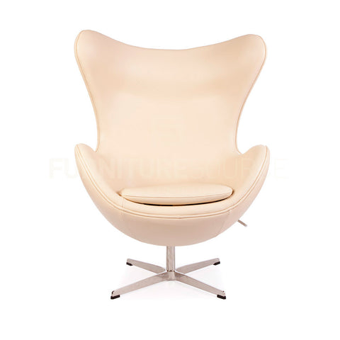 Arne Jacobsen Style Egg Chair - Beige Full Italian Leather , Chair - FSWorldwide, FSWorldwide  - 1