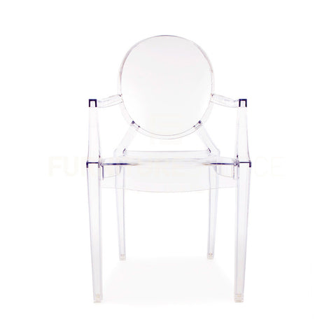 Philippe Starck Style Louis Ghost Arm Chair - Crystal Clear Acrylic , Chair - FSWorldwide, FSWorldwide  - 1